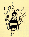 Bee Playing Music