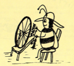 Bee Spinning Wheat