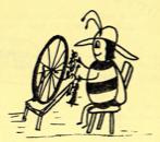 Bee Spinning Wheat
