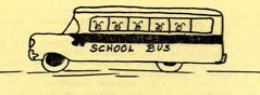 Bee's in School Bus