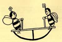 Bees on See Saw